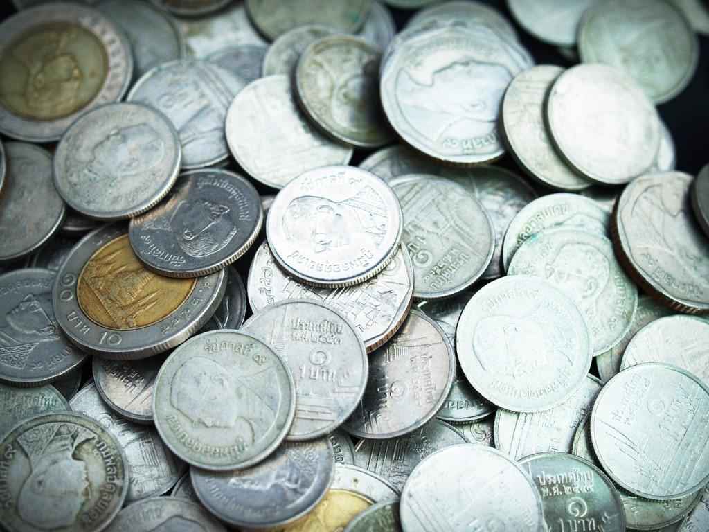 Coins of Thai baht